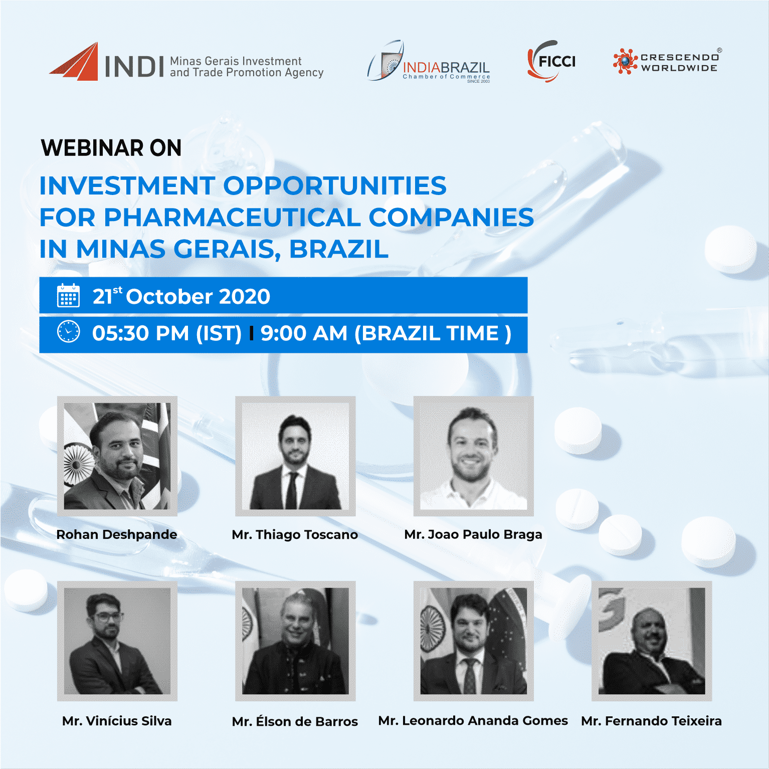 WEBINAR ON INVESTMENT OPPORTUNITIES FOR PHARMACEUTICAL COMPANIES IN MINAS GERAIS